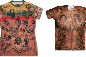 """Amerikiečiai pavogė """"tatuiruotų"""" marškinėlių idėją iš brolių Macių?"""