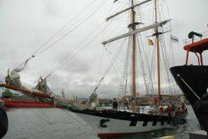 """Klaipėdoje burlaivis """"Brabander"""" išlydėtas į ekspediciją iki Islandijos"""