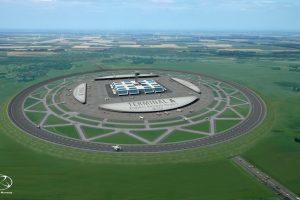 Neregėtas oro uostas: žiedinis kilimo ir tūpimo takas