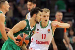 """Rungtynių pabaigoje spurtavęs """"Žalgiris"""" palaužė """"Baskonia"""" krepšininkus"""