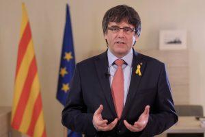 C. Puigdemontas nesieks būti perrinktas Katalonijos regiono prezidentu