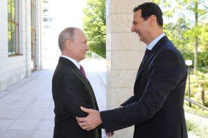 """V. Putinas susitiko su B. al-Assadu ir paragino pradėti Sirijoje """"politinį procesą"""""""