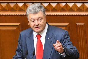 P. Porošenka neabejoja JT taikos palaikymo operacijos Ukrainoje būtinybe