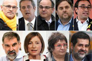 Ispanų prokurorai prašo skirti iki 25 metų kalėjimo Katalonijos separatistų lyderiams