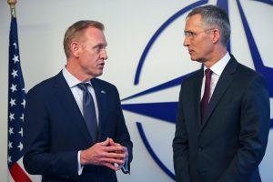 Laikinasis Pentagono vadovas susitiko su NATO sąjungininkių gynybos ministrais