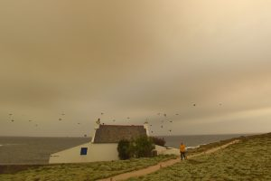 Estijos ir Suomijos padangę temdė gaisrų Portugalijoje dūmai