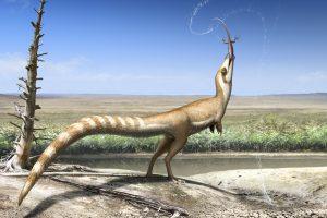 Smulkūs dinozaurai nuo priešų saugojosi spalvomis