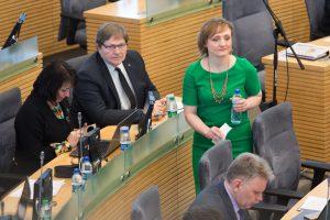 Seimo  narė V. Vingrienė dėl vyro smurto kreipėsi į policiją