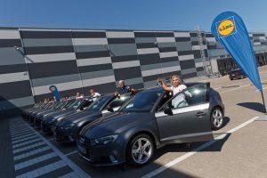 """""""Audi"""" automobiliai – dar devyniems iššūkį įveikusiems """"Lidl"""" parduotuvių vadovams"""