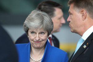 """Bus skelbiamas maištą Th. May partijoje sukėlęs """"Brexit"""" planas"""