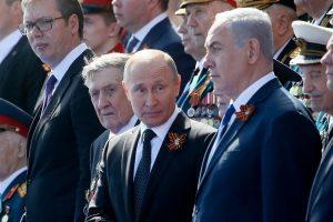 JAV traukiantis iš Irano susitarimo, Izraelio premjeras susitiko su V. Putinu