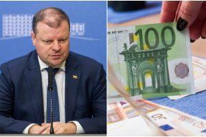 S. Skvernelis: vaiko pinigus didinsime iki 100 eurų