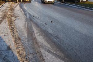 Uostamiesčio keliuose – avarijų lavina