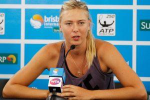 Rusijos tenisininkei M. Šarapovai raketę į šalį teks padėti dvejiem metams