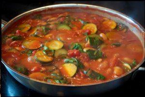 Cukinijų ir pomidorų troškinys