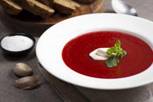 Kreminė burokėlių ir imbiero sriuba