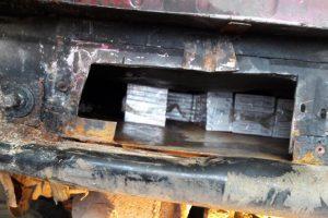Automobilyje rūkalus slėpęs baltarusis baudos neišvengs