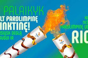Lietuviai kviečiami nešti asmeninę parolimpinę ugnį