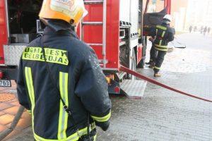 Pranešimas apie gaisrą Mažeikių mokykloje – nepagrįstas (atnaujinta)