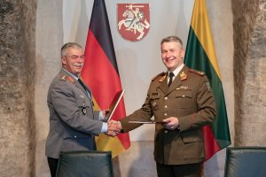 """Lietuvos kariuomenės brigada """"Geležinis Vilkas"""" priskirta Vokietijos divizijai"""