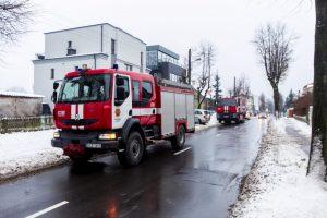Tipiškas, bet pavojingas žiemos gaisras Žaliakalnyje: užsidegė neišvalytas kaminas