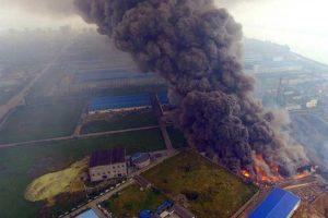 Suomijos chemijos gamykloje įsiplieskė gaisras