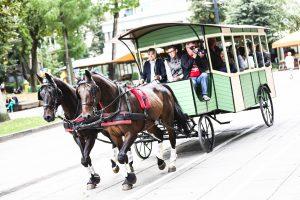 """""""Kauno autobusai"""" parduoda arklio traukiamą vežimą"""