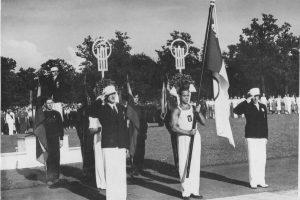 Kauno sporto halėje – pirmosios Tautinės olimpiados 80-mečio šventė