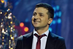 Prezidento posto siekiantis ukrainiečių komikas pirmauja rinkėjų apklausose
