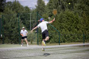 Per teniso turnyrą Nidoje žaidėjas gali nubėgti ir po 3 km