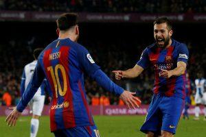 """""""Primera"""" lyga: """"Barcelona"""" pakilo į antrą vietą"""