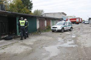 Garaže kilus gaisrui nukentėjo vyras