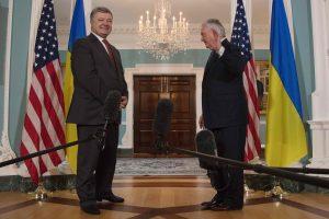 P. Porošenka tikisi D. Trumpo palaikymo siekiant taikos Rytų Ukrainoje