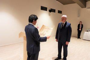 Klaipėdos merui įteiktas Japonijos apdovanojimas