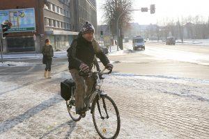 Per senamiestį – naujas dviračių takas