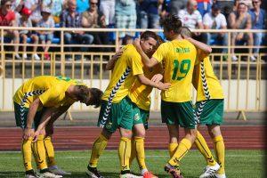 Lietuvos futbolo rinktinė pakilo į 125-ą vietą