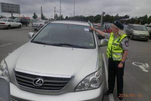 Uostamiesčio vairuotojai apsimetė neįgaliaisiais