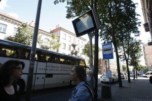 Autobusų stotelėse – naujos švieslentės