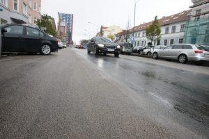 """Liepų gatvėje – """"tylusis"""" asfaltas"""