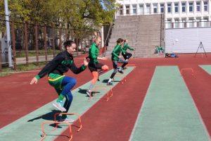 Lietuvos rinktinės krepšininkės jau stiprina raumenis