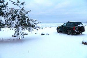 Vištyčio ežero ledą raižęs motociklininkas buvo girtas ir be dokumentų