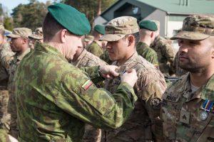 Tarnybą Lietuvoje baigia devintoji JAV karių pamaina
