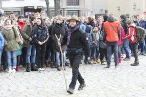 Klaipėdos senamiestį užtvindė skautai