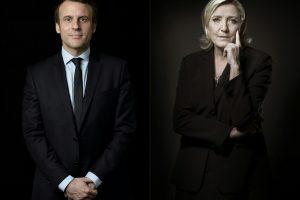 Dėl Prancūzijos prezidento posto susigrums E. Macronas ir M. Le Pen