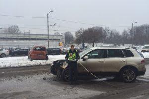 Per avariją K. Baršausko gatvėje nukentėjo moteris ir vaikas