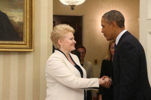 D. Grybauskaitė pasveikino B. Obamą jubiliejaus proga