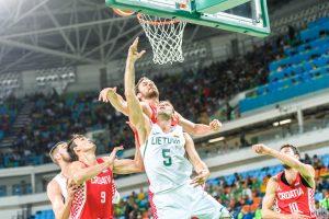 Kroatams pralaimėję Lietuvos krepšininkai ketvirtfinalyje žais su australais