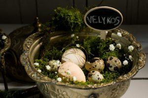 Velykoms ieško ir putpelių, ir stručių kiaušinių