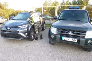 Pasieniečiai sulaikė Vokietijoje pavogtą naują visureigį