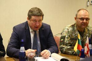 R. Karoblis Batumyje susitiko su Gruzijos gynybos ministru